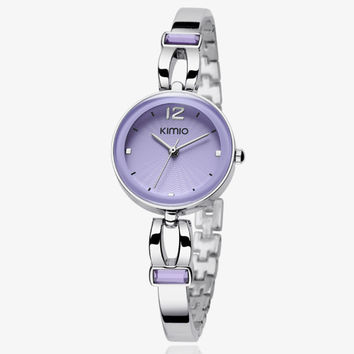100% kimio top brand luxury women quartz-watch stainless steel ladies Analog bracelet watch women montre femme wrist watches