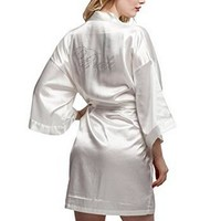 Fashion Silk Bridesmaid Bride Robe
