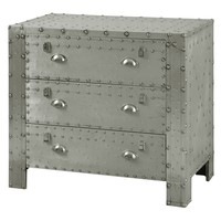 Leandra Industrial 3 Drawer Chest
