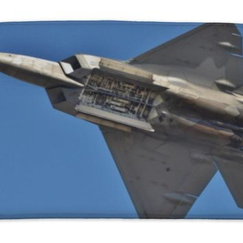 Bath Mat, F22 Raptor With Weapons Bay Deployed