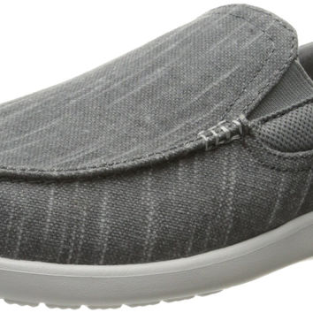 Crocs Men's Santa Cruz Ii Luxe Slub Slipon Slip-On Loafer Charcoal/Light Grey 13 D(M) US '
