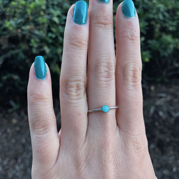 Amazonite Stacking Ring - Ready to Ship - Size 8.75
