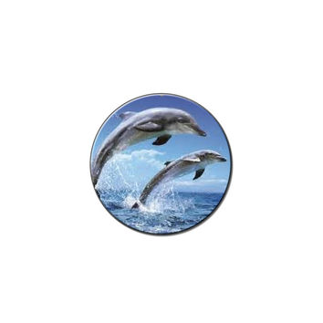 Dolphin Animal - Fish Lapel Hat Pin Tie Tack Small Round