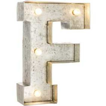 Galvanized Marquee Lighted Letter - H | Hobby Lobby | 1174820