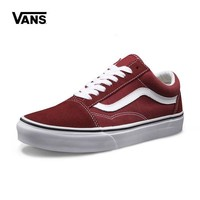 Best Deal Online Vans Old Skool White Red Low Top Men Flats Shoes Canvas Sneakers Women Sport Shoes