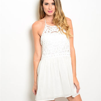 SUMMERS & SUNSETS DRESS IN WHITE