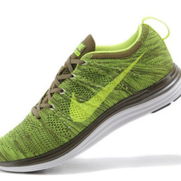 NFL005 - Nike Flyknit Lunar One (Yellow/Olive)