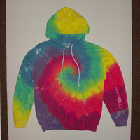 Tie Dye Spiral Hoodie - Any Size & Color Combination Available