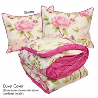 Wake Up Frankie - Abbey Rose Set : Teen Bedding, Pink Bedding, Dorm Bedding, Teen Comforters