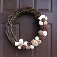 Fall Grapevine Wreath for Front Door