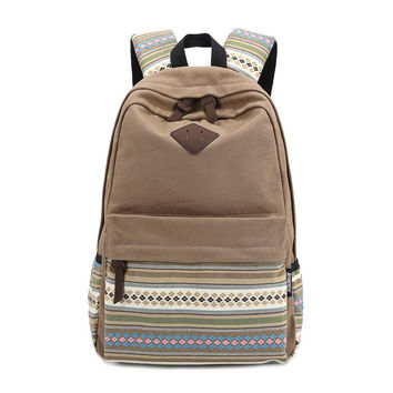 Korean Canvas Printing Backpack Women School Bags for Teenage Girls Cute Bookbags Vintage Laptop Backpacks Outdoor Backpack