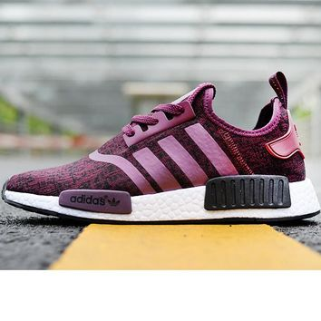 Adidas NMD Purple Sneakers Women Fashion Trending Running Sports Shoes