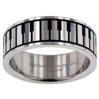 Praise and Worship Stainless Steel Ring size 8