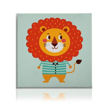 Cute Animals Pictures Canvas Wall Art Decal Painting Prints Lion