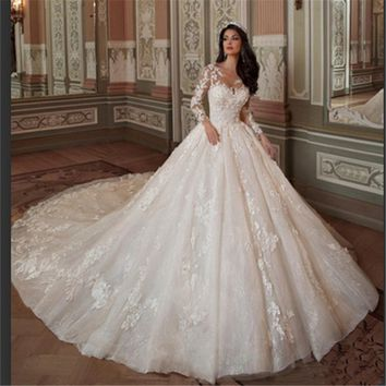 Cheap Lace Wedding Dress  Mermaid Wedding Dresses Romantic Bride Dress Custom Made Fashionable Vestidos De Noiva Em Renda