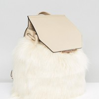 Kendall + Kylie Faux Fur Backpack at asos.com