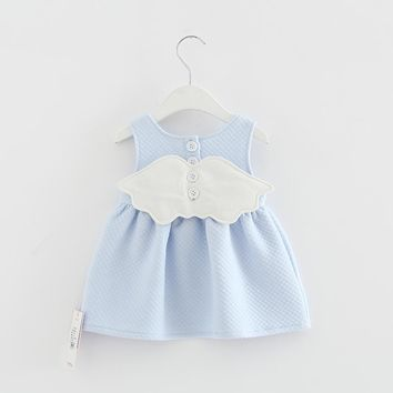 2017 Baby Angel Feathers Party Dress Princess Kids Children Infant Baby Dresses Baby Girls Dresses Newborn Baby Clothes 4 color