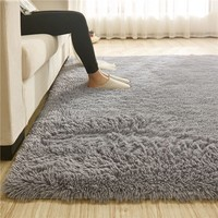 160x110cm Super Soft Fluffy Anti-Skid Shaggy Area Rug Dining Room Bedroom Bathroom Carpet Floor Mat Home Decor