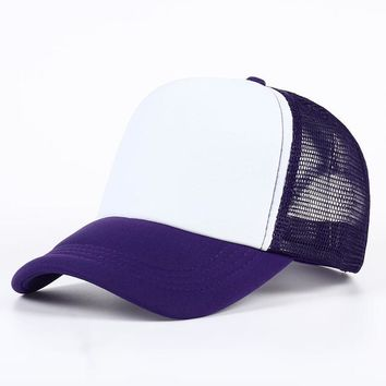 Sports Hat Cap trendy  VORON 11 color Summer Men and Women Casual Baseball Hat Gorras truck driver Mesh Cap Basketball Outdoor Sports Unisex  KO_16_1