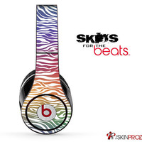 Colorful Zebra Print Skin For The Beats by Dre Studio, Solo, Pro, Mix-R or Wireless