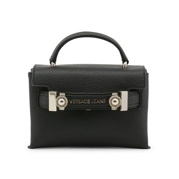 Versace Black Synthetic Leather Studs Handbag