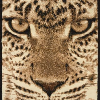 United Weaver Legends Leopard Face Area Rug