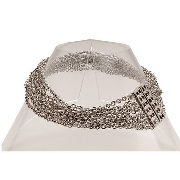 Chain Links Choker in Silver