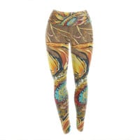 "Brienne Jepkema ""Sunflower"" Yellow Flower Yoga Leggings"