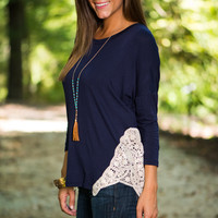 Simply Subtle Top, Navy