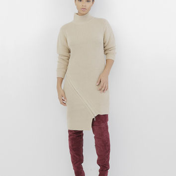 a4e4168269 ... FLYJANE 58  detailed look fdbec 0985d ZIP SERVICE ZIPPERED SWEATER  DRESS - NUDE  reputable site 42368 f28b4 ... MELANIE Olive Green Oversized  Lace Up ...