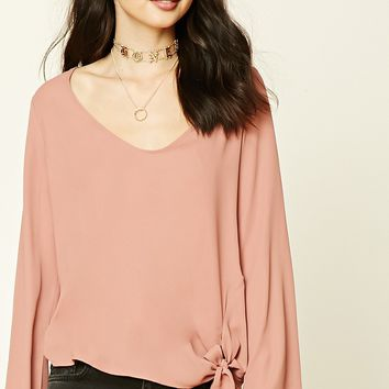 Knotted-Hem Top