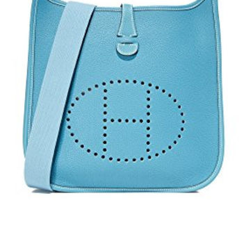 What Goes Around Comes Around Women's Hermes Evelyne I Feed Bag (Previously Owned), Blue, One Size