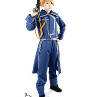 FullMetal Alchemist Riza Hawkeye Military Cosplay Party Hnadmade Girl Costume