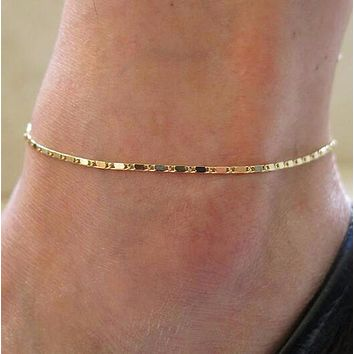 Chain Anklet - Silver or Gold