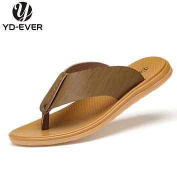 genuine leather men sandals,handmade Summer fashion brand beach slippers Men's flip flops casual moccasin plus size sandals