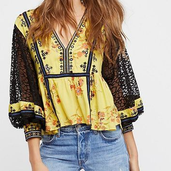 Boogie All Night Blouse - Ivory by Free People
