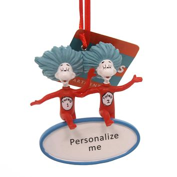 Holiday Ornaments THING 1 THING 2 PERSONALABLE Polyresin Dr. Seuss 6000317