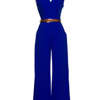 Belted Jumpsuit Royal
