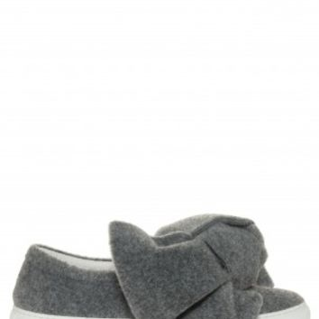 Boutique 1 - JOSHUA SANDERS - Grey Felt Bow Sneakers | Boutique1.com
