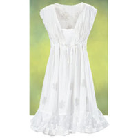 Bridgets Embroidered Dress and Slip - New Age & Spiritual Gifts at Pyramid Collection
