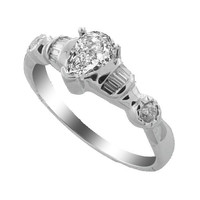 0.52 Ct. Twt. Diamond Ring in 18k White Gold