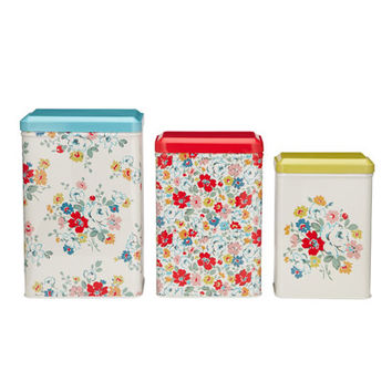 Baking | Set of 3 Clifton Rose Storage Tins | CathKidston