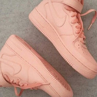Nike Pale Pink Airforce 1s Mid GS