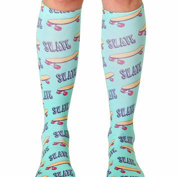 Skate Knee High Socks