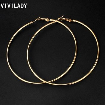 VIVILADY Hot New 8cm Big Hoop Earrings