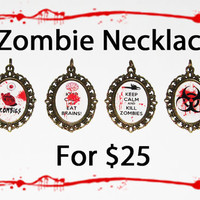 4 Zombie Necklaces