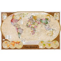 World Map Winkel Tripel Projection Poster 24x36