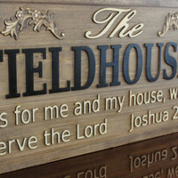 CARVED Wooden Sign As For Me And My House We by michaelswoodworks