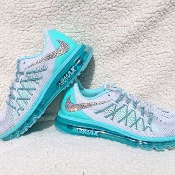 Crystal Nike Air Max 2015 Bling Shoes with Swarovski Elements Women's Running Shoes Hy