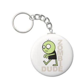 Zombie Dude Key Chains from Zazzle.com